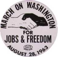 Button from march on washington