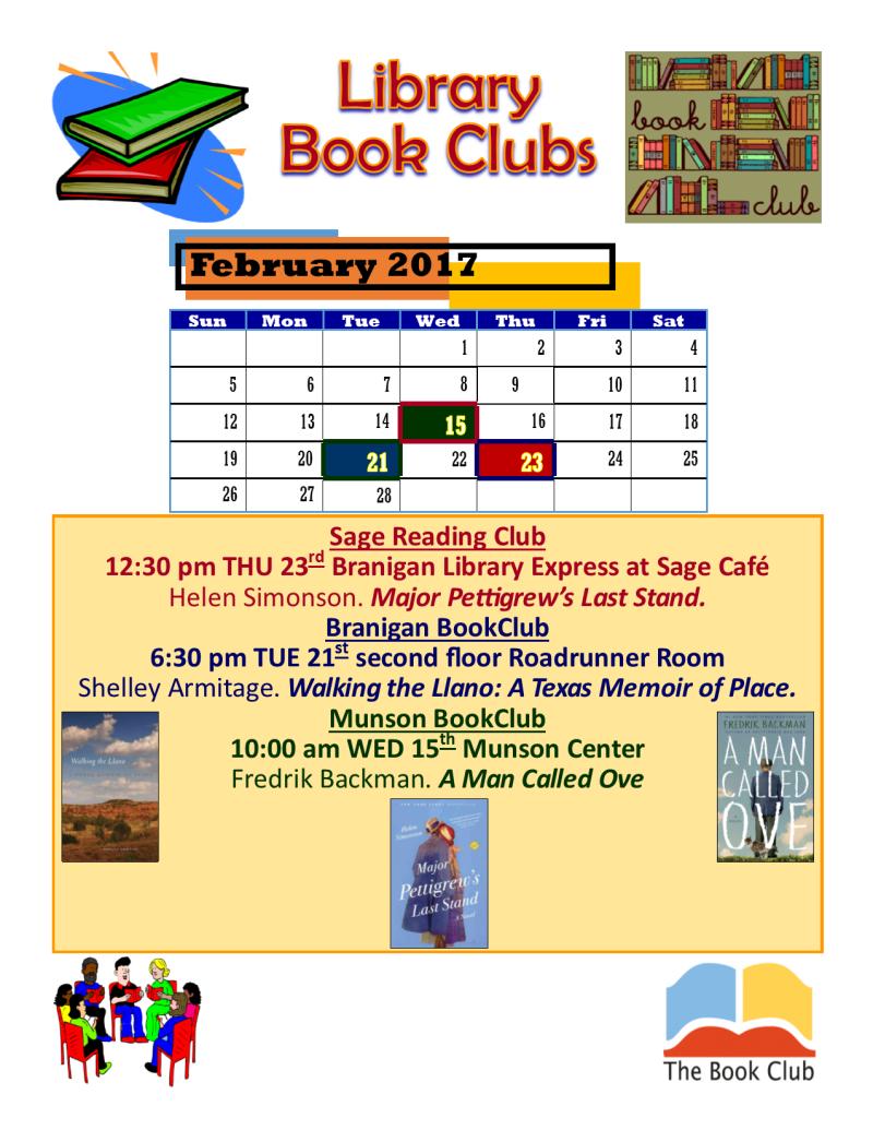 MAP Book Clubs SageMunsonBranigan FEB 2017