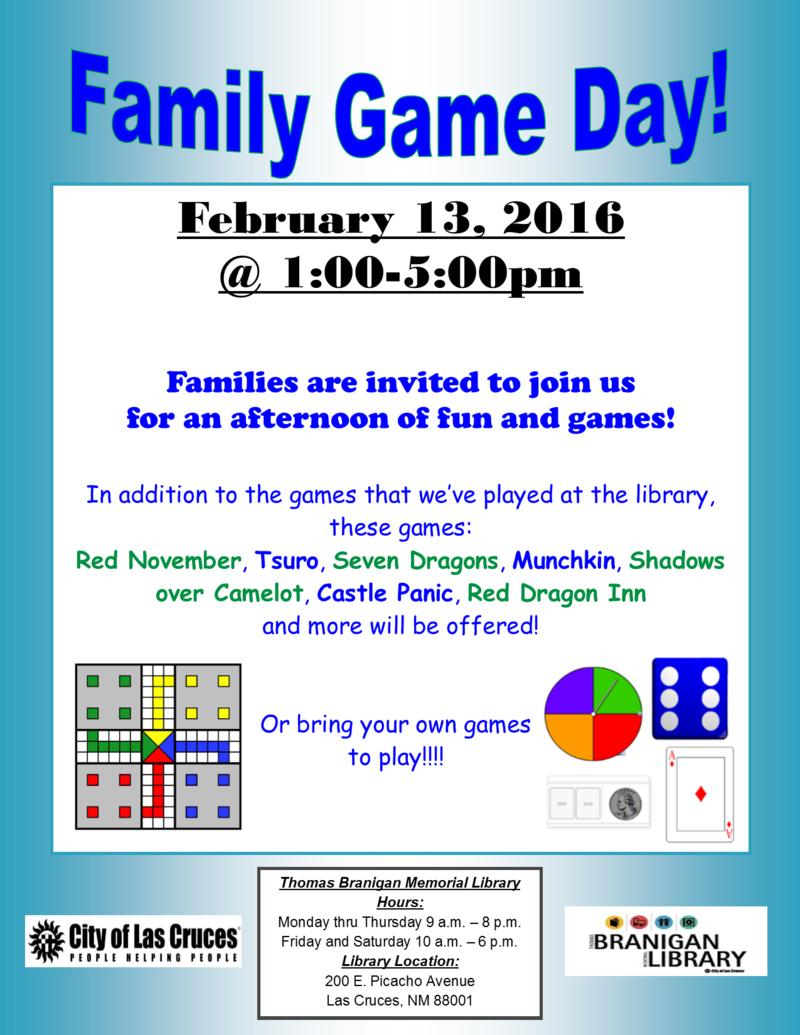 FamilyGameDay Flyer