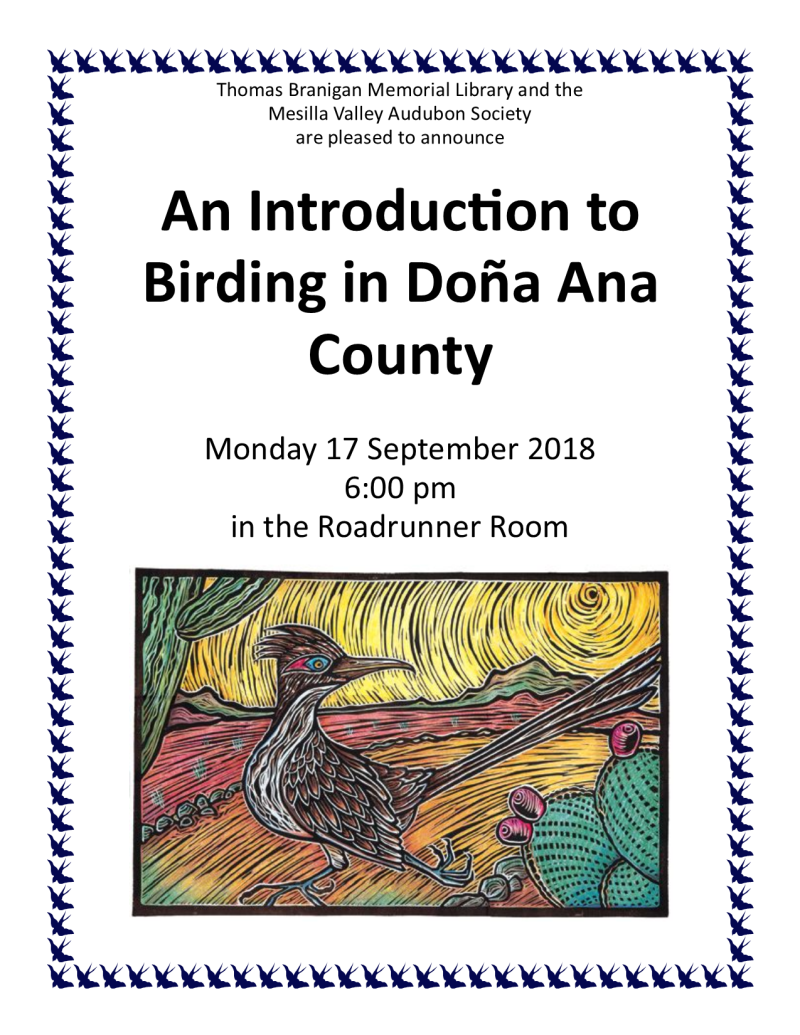 TBML MVAS Intro to Birding in DAC 17 Sept 2018